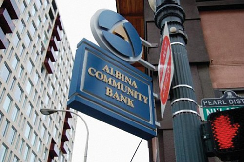 Albina Commuinity Bank, a financial institution in Portland created to help finance economic development projects from disadvantaged and ethnically diverse ...