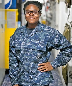 A Baltimore native and 2004 Chesapeake High School graduate is serving in the U.S. Navy aboard the guided missile cruiser, ...