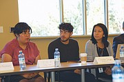 Dreamer recipients, activists, and supporters attend a meeting Friday with Oregon's two U.S. Senators Ron Wyden and Jeff Merkley to call for action to support young people who immigrated to the U.S. as children and who now face deportation under President Trump.