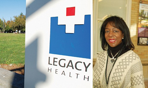Plans call for developing a vacant lot next to Legacy Emanuel Hospital for community use while acknowledging the black community ...