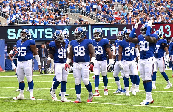 The Giants trotted onto the turf at Sports Authority Field at Mile High in Denver Sunday night to face the ...