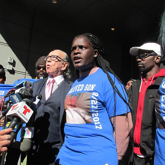The mother of the teen stabbed to death last month at Bronx high school announces her plans to sue the ...