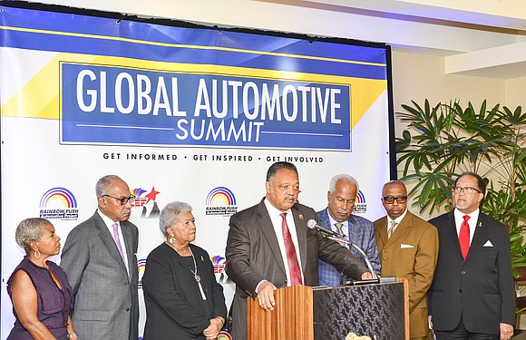 "Reverend Jesse Jackson, Sr., the founder of the Rainbow PUSH Coalition, called for a ""full-scale"" boycott of BMW, the German ..."