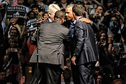 Former President Obama electrifies the crowd as he huddles with Virginia's top ticket Democratic candidates at an Oct. 19 rally at the Greater Richmond Convention Center.