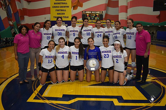 To face the toughest and most important competition, the Monroe College volleyball team has had to play many of its ...