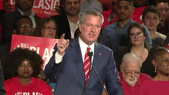 New York City residents re-elected the mayor with 66.5 percent of the vote, beating out Republican challenger New York State ...