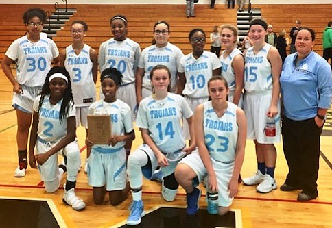 Two girls' basketball teams from William B. Orenic Intermediate School and Troy Middle School, both in Troy Community School District ...