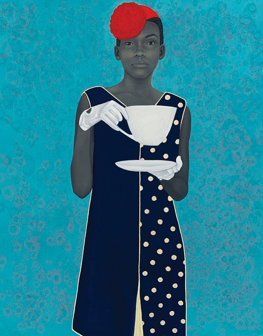 """""""Miss Everything (Unsuppressed Deliverance),"""" a painting by artist Amy Sherald, won first place in the National Portrait Gallery's 2016 Outwin Boochever Portrait Competition."""
