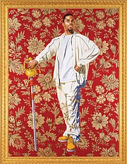 """VMFA, Arthur and Margaret Glasgow Fund   """"Willem van Heythuysen,"""" a 2006 oil and enamel painting on canvas by artist Kehinde Wiley, is part of the collection at the Virginia Museum of Fine Arts in Richmond."""