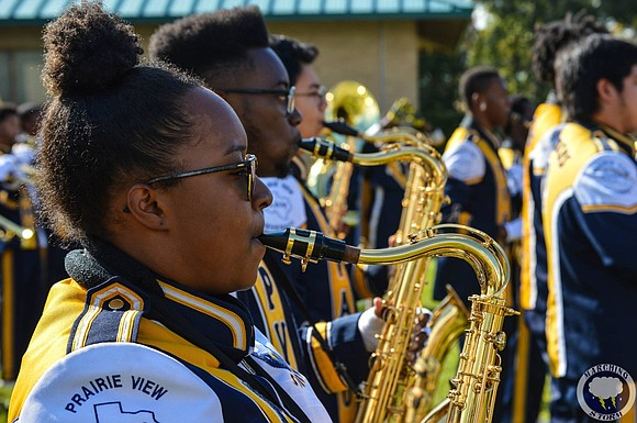The Prairie View A&M University Marching Storm band arrived to the city Monday ahead of their performance at the 91st ...