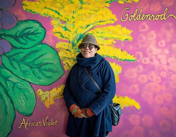 """I felt really fortunate to have been selected for this project,"" Arlene Turner-Crawford said. ""I've done other murals with community ..."