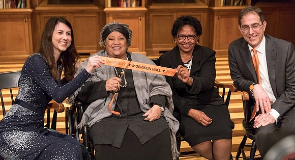 Princeton University showed respect and honor to author Toni Morrison by dedicating Morrison Hall on Friday, Nov. 17. Morrison – ...