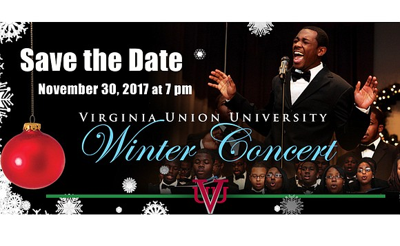 """The Virginia Union University Choir and the VUU Community Orchestra will present its free winter concert, """"Christmas at Virginia Union ..."""