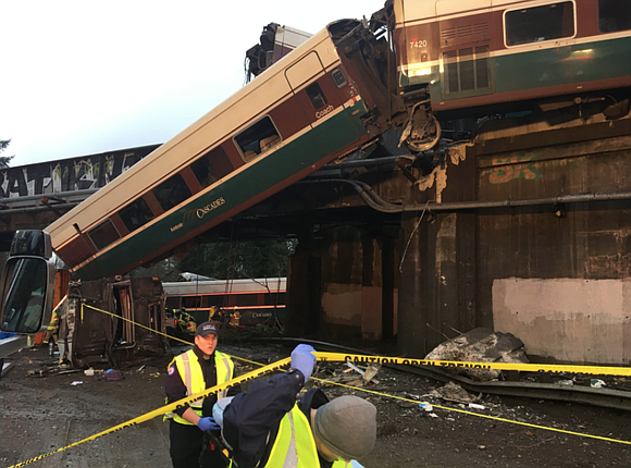 At least three people were killed and more than 100 injured when an Amtrak passenger train derailed in Washington state, ...
