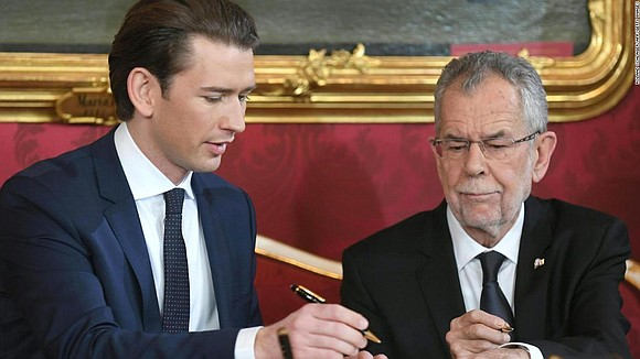 Austria's new coalition government, which includes the far-right Freedom Party, was sworn in on Monday as demonstrators protested outside. Austrian ...
