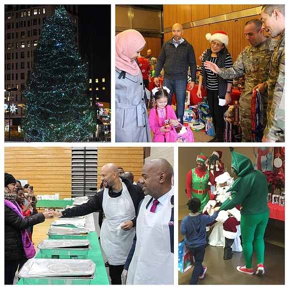 The spirit of the holiday was felt across the city as people came together to celebrate Christmas with food, family, ...