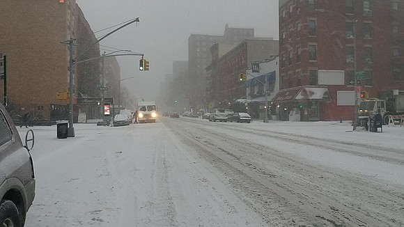 The first of two storm systems makes its way through the tri-state area Friday, as a winter storm watch was ...