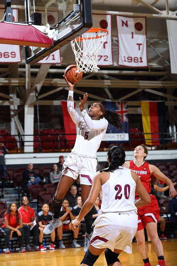 Frigid cold winter temperatures cannot dim the competitive fires of the women of Fordham University basketball.