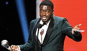 """British actor Daniel Kaluuya thanks his mother and """"Get Out"""" writer-director Jordan Peele as he accepts the award for Outstanding Actor in a Motion Picture."""