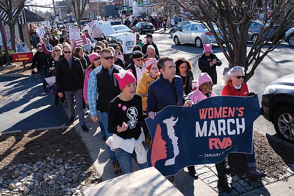 Thousands of demonstrators took to the streets of Carytown last Saturday for the second annual Women's March, recalling demonstrations a ...
