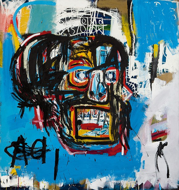 An original Basquiat painting was hung at the Brooklyn Museum Jan. 26. Basquiat's 1982 skull painting was purchased in an ...