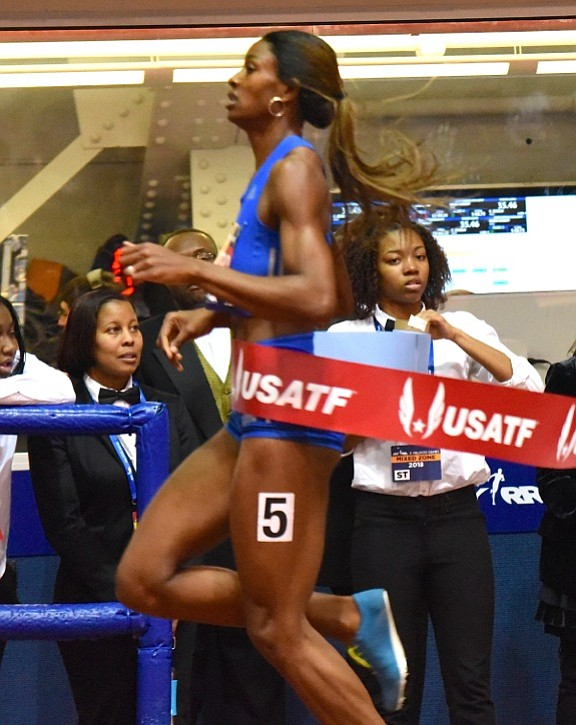 Defending champion in the women's 300 meters Shaunae Miller-Uibo went out fast, sustained speed, beat the field by nearly two ...