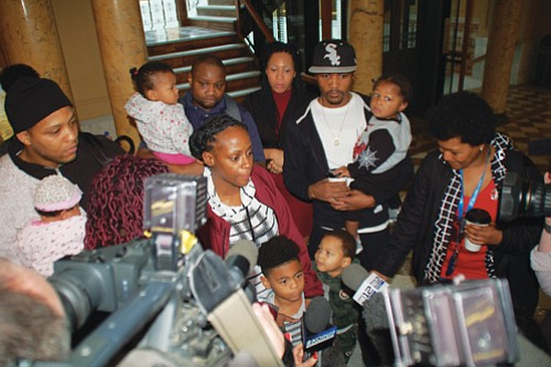 Demanding accountability for what they believe was a wrongful death of their 17-year-old son and nephew