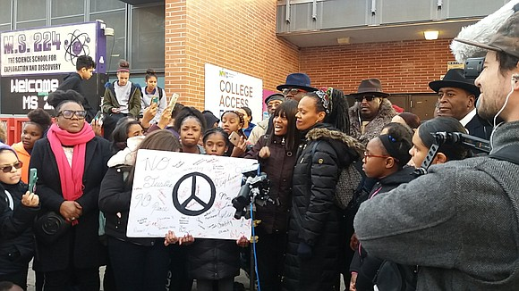 One day after a rally was held outside Middle School 224 in the Bronx calling for more Black History lessons, ...
