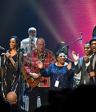 Otis Redding III, Booker T. and the MGs, the Preservation Hall Jazz Band and the Dap Kings at The Apollo Theatre.