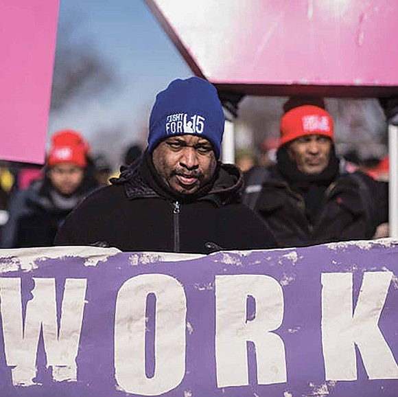 """""""Our mission is to follow the tradition of the sanitation workers and move history forward to demand $15 an hour ..."""