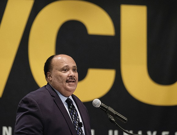 Be guided by your dreams, not distracted by your fears. This was the message that Martin Luther King III offered ...