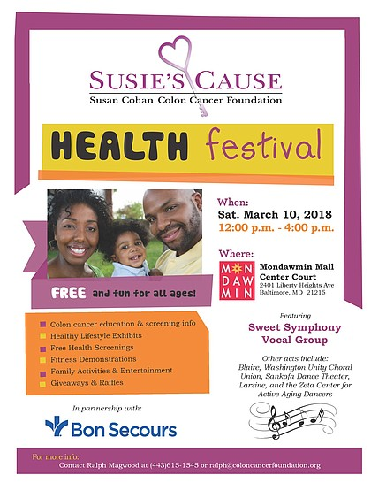 Susie S Cause Health Festival At Mondawmin Mall Saturday March 10 The Baltimore Times Online Newspaper Positive Stories About Positive People