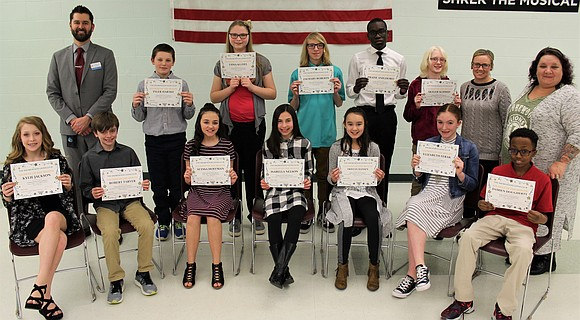 The Shorewood Lions Club recognized Troy Community School District 30-C January 2018 Students of the Month at the school district's ...