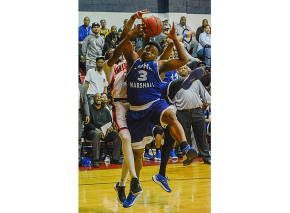 Richmond's John Marshall High School is rumbling into the State 3A basketball tournament with a full head of steam.