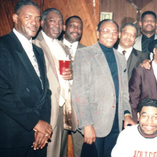 Members of the Vanguard Justice Society, Patrons & friends at the Frankford Room back in 1990