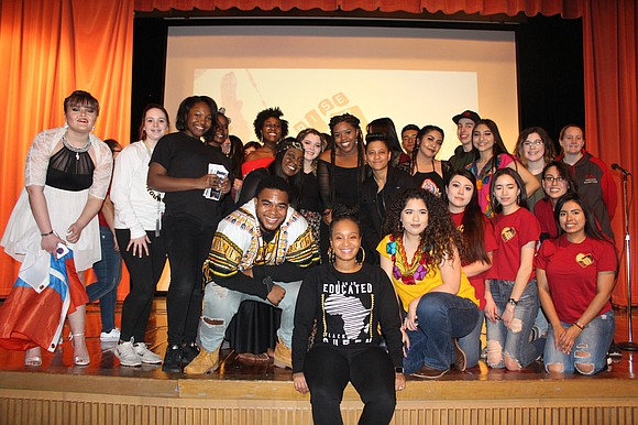 """Joliet West High School's Multicultural Club presented an original student show titled """"Rise Up"""" to celebrate Black History Month and ..."""