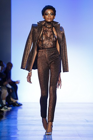 Queens, N.Y. designer Laquan Smith stepped it up for fall/winter 2018. His collection was outstanding.