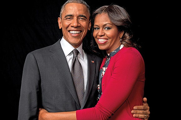 Former President Barack Obama and First Lady Michelle Obama are...