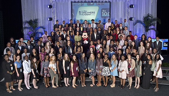 Walt Disney World Resort welcomed 100 teens selected to participate in the 2018 Disney Dreamers Academy with Steve Harvey and ...