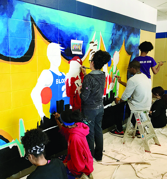 Students at Bloom Trail High School recently unveiled their new mural inside the school. The mural was a collaborative effort ...