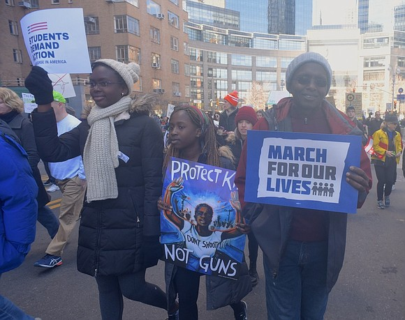 Thousands of New Yorkers who didn't make it to Washington D.C. last Saturday participated in the NYC March for Our ...