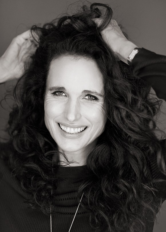 Actress Andie MacDowell's appeal is in her ethereal glow. From her crown of dark cascading curls to her porcelain complexion ...