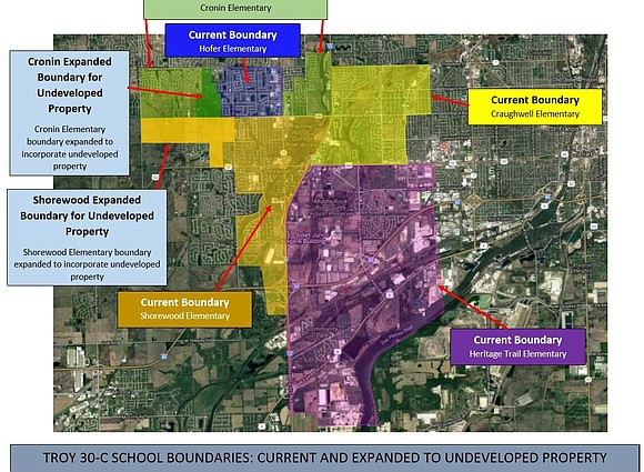 The Troy Community School District 30-C school board recently approved school boundary changes for two schools. Superintendent Dr. Todd Koehl ...