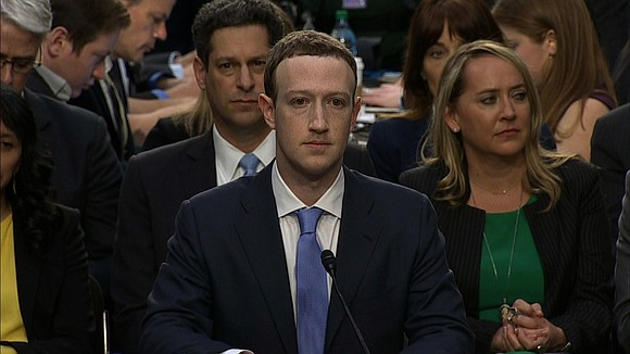 """Three hours into Mark Zuckerberg's second day of hearings on Capitol Hill, a Republican lawmaker offered """"a little bit of ..."""