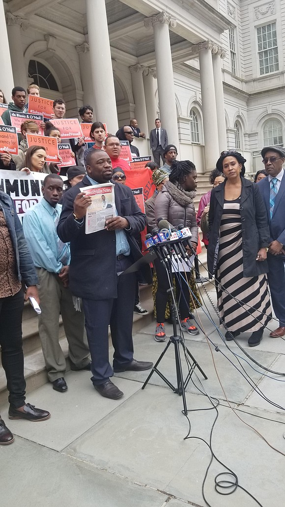 The story of the April 4, 2018 NYPD killing of Saheed Vassell is big news in Brooklyn, in the U.S. ...