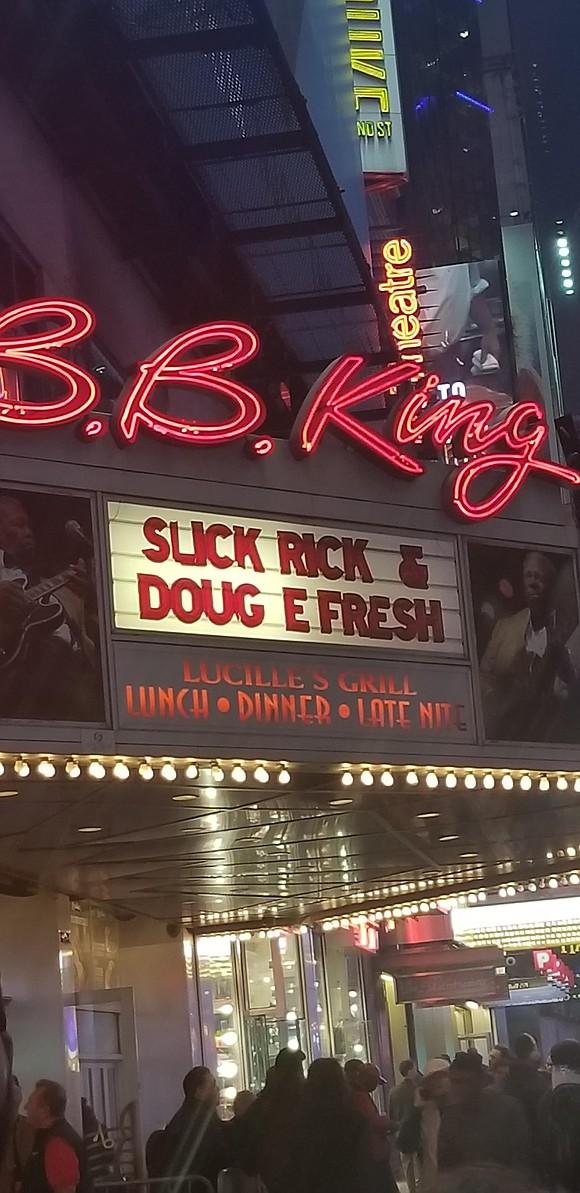 B.B. King closes doors—Slick Rick and Doug E. Fresh give a great send off