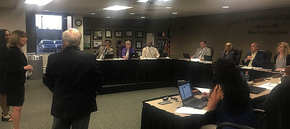The Joliet Township High School District 204 Board of Education listened to a presentation Tuesday for another superintendent search selection ...