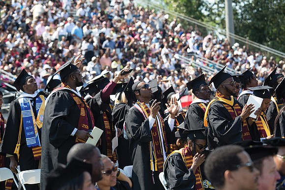 Virginia Union University graduates were encouraged to focus on a life of substance, and not one of superficiality, during the ...