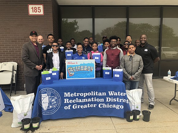 Metropolitan Water Reclamation District of Greater Chicago Commissioner Kari K. Steele and 100 Black Men Chicago, Inc. come together to ...