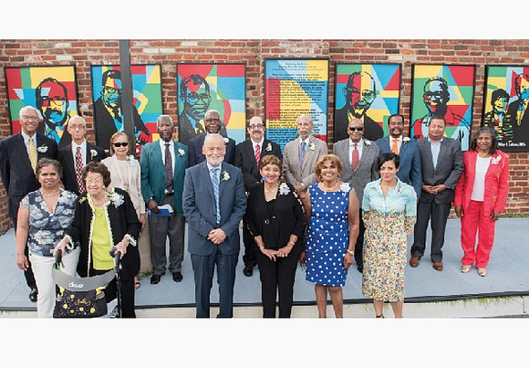 The portraits of 21 physicians instrumental in the history of Bon Secours Richmond Community Hospital adorn a new Legacy Wall ...